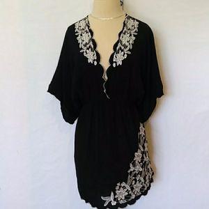 Torrid embroidered mini dress / tunic. 22